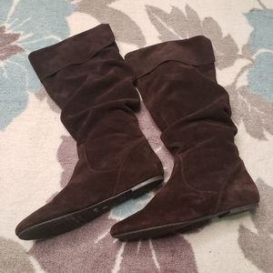 Gianni Bini Chicolate Brown Suede Slouchy Boots